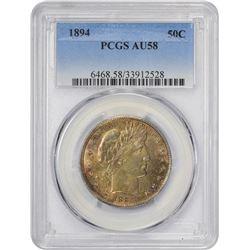 Richly Toned AU 1894 Half Dollar 1894 Half Dollar AU-58 PCGS.