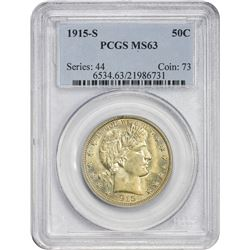 Choice Uncirculated 1915-S Half Dollar 1915-S Half Dollar MS-63 PCGS.