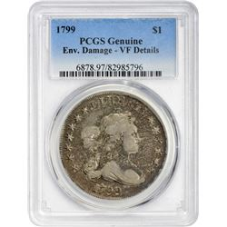VF Details 1799 Dollar 1799 Dollar B-17, BB-164. Rarity-2. VF Details – Environmental Damage – PCGS.