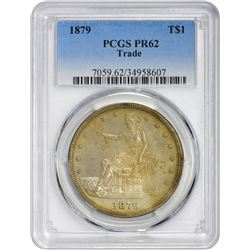 Toned Proof 1879 Trade Dollar 1879 Trade $1. Proof-62 PCGS.