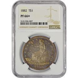 Superb Gem+ Proof 1882 Trade $1 1882 Trade $1. Proof-66+ NGC.
