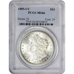 Gem Uncirculated 1885-CC Dollar 1885-CC Dollar MS-66 PCGS.