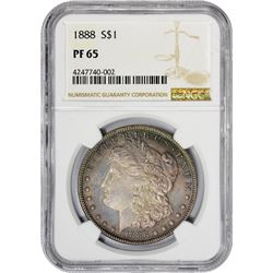 Gem Proof 1888 Morgan Dollar 1888 Dollar Proof-65 NGC.