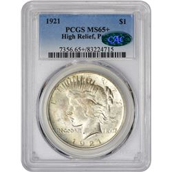 Gem+ 1921 Peace Dollar 1921 Peace Dollar. High Relief. MS-65+ PCGS. CAC.