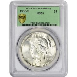 Gem Uncirculated 1935-S Peace Dollar 1935-S Dollar MS-65 PCGS.