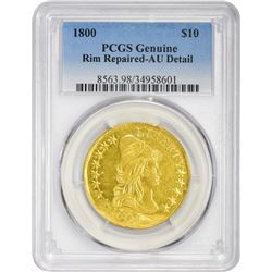 AU Detail 1800 Eagle 1800 Eagle BD-1. Rarity-3+. Genuine – Rim Repaired – AU Detail PCGS.