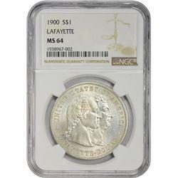 Choice Mint State 1900 Lafayette Dollar 1900 Lafayette Dollar. MS-64 NGC.