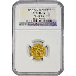 EF Details 1915-S Pan-Pac $2.50 1915-S Commem Gold Panama-Pacific Gold $2.50. EF Details – Polished
