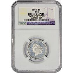 Aluminum 1868 Half Eagle-25 Francs Pattern 1868 Pattern Half Eagle-25 Francs. Judd-658, Pollock-731.