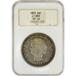 Popular 1873 Bailly Trade Dollar Pattern 1873 Pattern Trade Dollar. Judd-1281, Pollock-1423. Silver.
