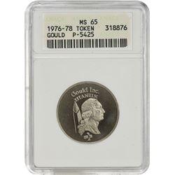 Gem Mint State 1976-1978 Gould Token 1976-1978 Gould Token, Pattern Dollar. P-5425. Titanium. Plain