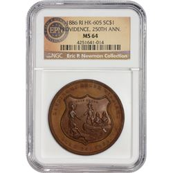 1886 Providence So-Called Dollar Ex Eric P. Newman Collection Rhode Island. Providence. 1886 So-Call