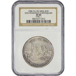 1906 San Francisco Earthquake So-Called $1 California. San Francisco. 1906 So-Called Dollar. San Fra