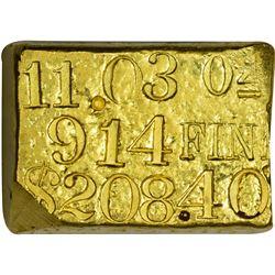 Impressive Kellogg & Humbert Gold Ingot California. San Francisco. Kellogg & Humbert Gold Ingot.