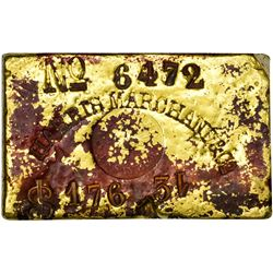 Rare Harris, Marchand & Co. Ingot S.S. Central America Treasure Bar Harris Marchand & Co