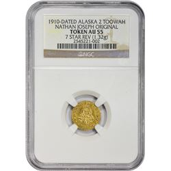 "Renowned ""1862"" Alaskan Gold Two TooWah ""1862"" (1910) Alaskan Gold Two TooWah. Nathan Joseph. Origin"