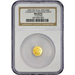 Gold 1904 Louisiana Purchase Exposition Token Louisiana. 1904 Louisiana Purchase Exposition Gold Tok