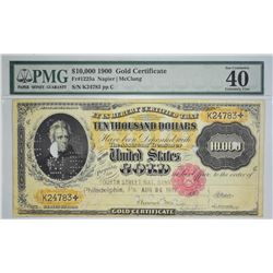 Fr. 1225e. 1900 $10,000 Gold Certificate. PMG Extremely Fine 40.