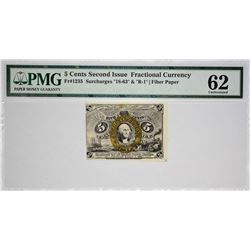 Fr. 1235. 5 Cents. Second Issue. PMG Uncirculated 62.