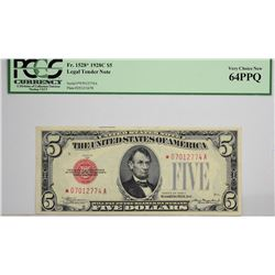 Lot of (3) $5 Legal Tender Replacement Notes. PCGS Graded.