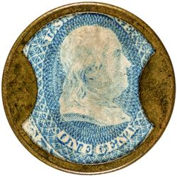 Ayer's Sarsaparilla. 1 Cent, Small Ayer's. HB-27, EP-4, S-13a. Choice About Uncirculated.