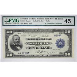 Key St. Louis $50 Federal Reserve Bank Note Important Single Catalog Number Denomination Fr. 831. 19