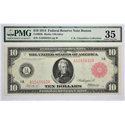 Single Finest PMG Certified Fr. 892b Boston Red Seal Fr. 892b. $10 Federal Reserve Note. Red Seal. B