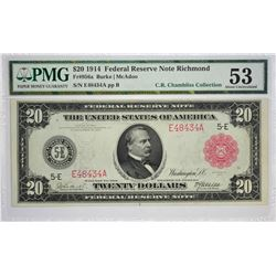 Incredible Richmond $20 Red Seal Federal Reserve Note
