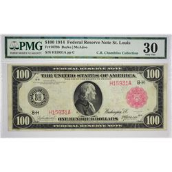 Important Fr. 1079b $100 1914 Red Seal