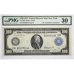 Fr. 1089. 1914 $100 Federal Reserve Note. Blue Seal. New York. PMG Very Fine 30.
