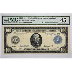 Fr. 1099. 1914 $100 Federal Reserve Note. Blue Seal. Cleveland. PMG Choice Extremely Fine 45.