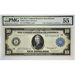 Lot of (4) 1914 $10 Federal Reserve Notes. Blue Seals. PMG. Graded. Includes the following; Fr. 906