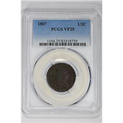 1807 1/2C. VF 25 PCGS