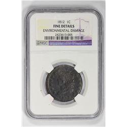 1812 1C Large Cent. F Details NGC