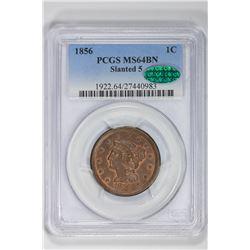 1856 1C Large Cent. MS 64 PCGS