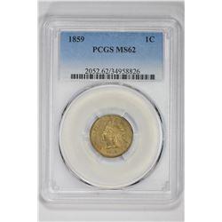 1859 1C. MS 62 PCGS