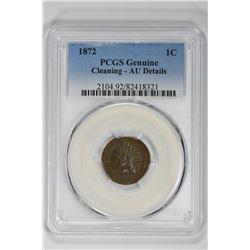 1872 1C Genuine. AU Details PCGS