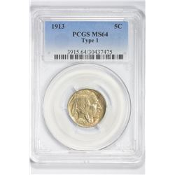 1913 5C . MS 64 PCGS