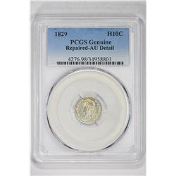 1829 H10C Genuine. AU Detail PCGS