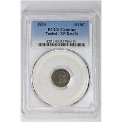 1834 H10C Genuine. XF Details PCGS