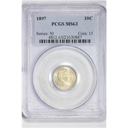 1897 10C. MS 63 PCGS