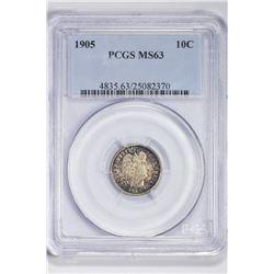 1905 10C. MS 63 PCGS