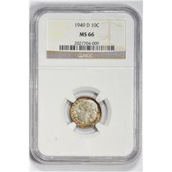 1949 D 10C. MS 66 NGC