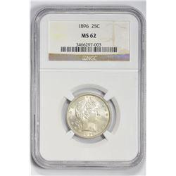 1896 25C. MS 62 NGC