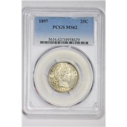 1897 25C. MS 62 PCGS