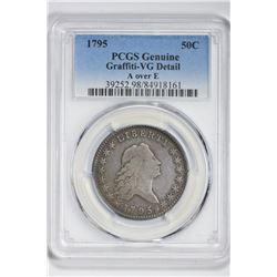 1795 50C Half Dollar. VG Details PCGS