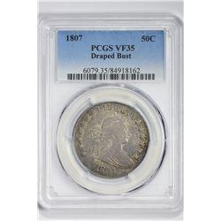 1807 50C Half Dollar. VF 35 PCGS