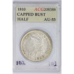 1810 Capped Bust Half. AU 53 ACG