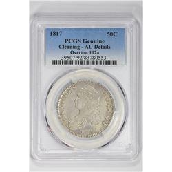 1817 50C Genuine Overtons 112a. AU Details PCGS