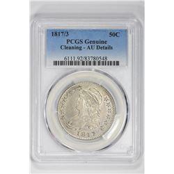 1817-3 50C Genuine. AU Details PCGS